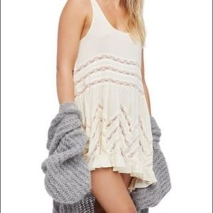 Free People Trapeze & Voile Dress in Tea